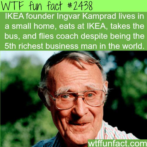 IKEA founder Ingvar Kamprad -WTF funfacts