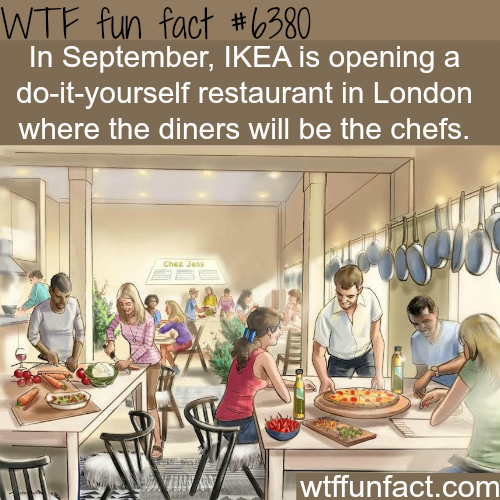 IKEA's DIY restaurant in London - WTF fun facts