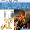 in 2013 hanukkah began on the same day as