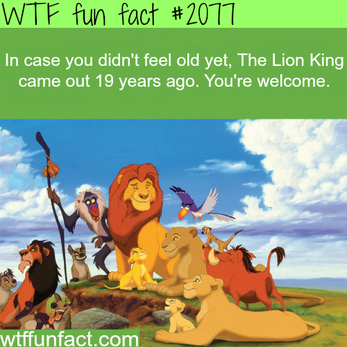 In case you didn't feel old yet - WTF fun facts