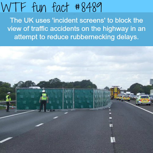 Incident Screens Are Used In The UK to Reduce Traffic Delays - WTF fun facts