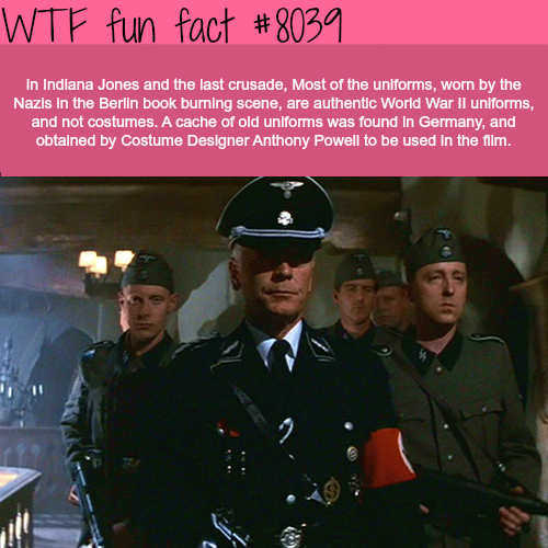 Indiana Jones and last crusade - WTF fun fact