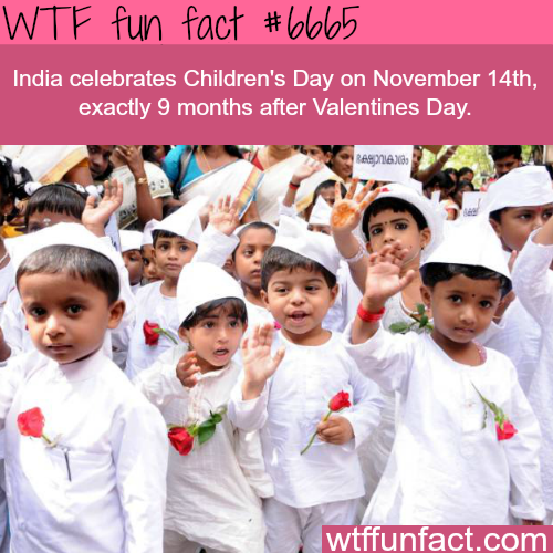 India's Children's Day - WTF fun fact