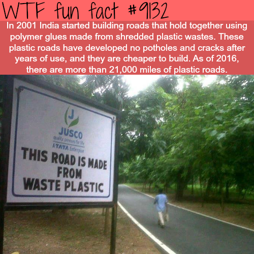 India's Plastic Roads - WTF fun fact