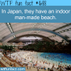 indoor beach in japan
