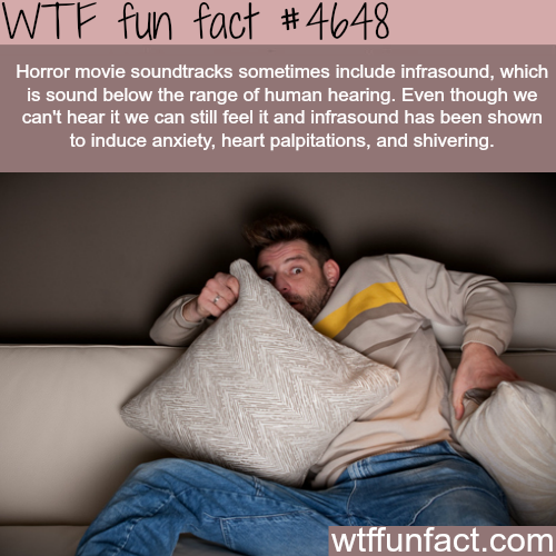Infrasound in horror movies - WTF fun facts