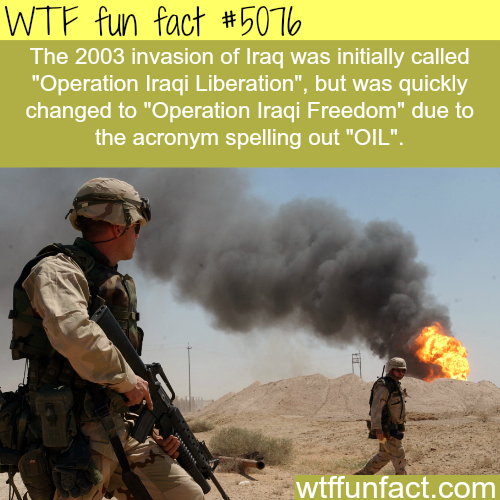 Invasion of Iraq facts - WTF fun facts