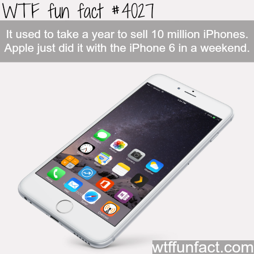 Iphone  6 sales - WTF fun facts