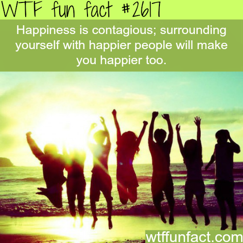 Is happiness contagious? -WTF funfacts