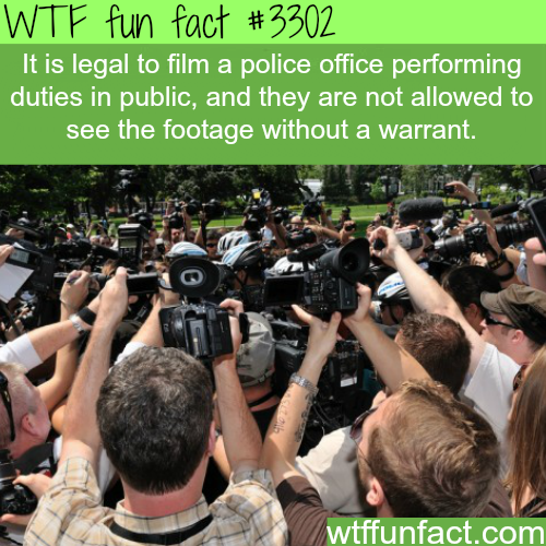 Is it legal to film the police? -  WTF fun facts