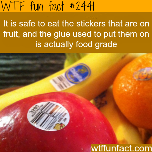 Is it safe to eat fruit stickers? -WTF funfacts
