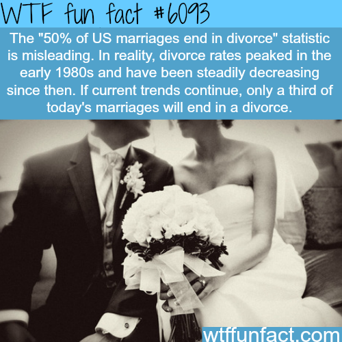 Is it true that half of the marriages end in divorce?