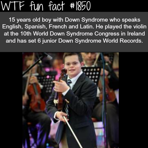 it's not down syndrome if you're going up  - WTF fun facts