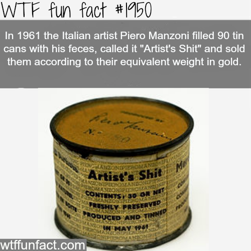 "Italian Artist piero Manzoni ""Artist's Shit"" - WTF fun facts"