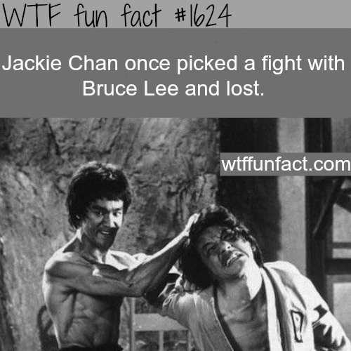 Jackie Chan fought Bruce Lee  - WTF fun facts