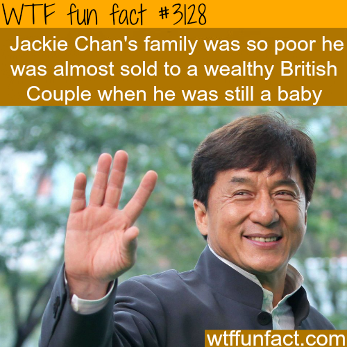 Jackie Chan's family history -  WTF fun facts