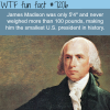james madison the smallest us president wtf