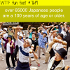 japan population that is over 100 years old