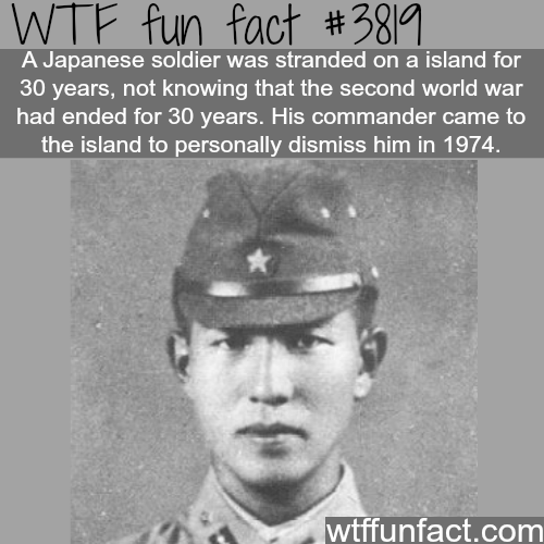 Japanese soldier that surrendered after 30 years of the war end - WTF fun facts