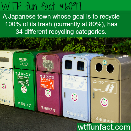 Japanese town has 34 different recycling categories - WTF fun facts