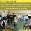 japense student s cleaning school