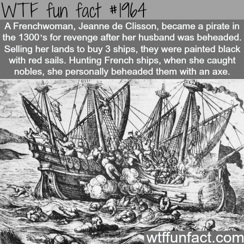 Jeanne de CLisson; French pirate -WTF fun facts