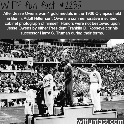 Jesse Owens and Hitler -WTF fun facts