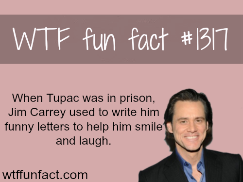 Jim carrey and tupac - celebrities facts