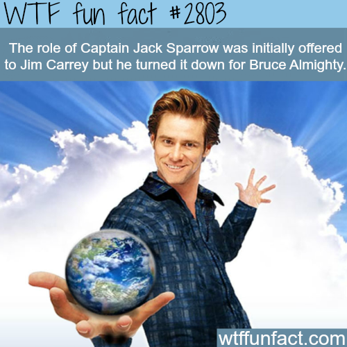 Jim Carry as Captain Jack Sparrow - WTF fun facts