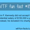john f jennedy salary facts