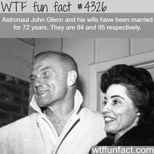 John Glenn and his wife