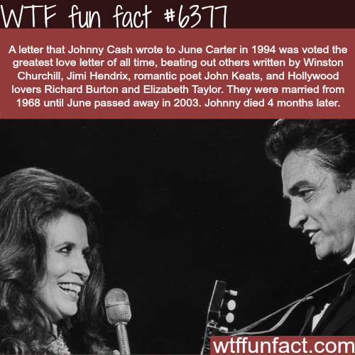Johnny Cash's love letter to Jude Carter - WTF fun facts