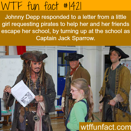 Johnny Depp visits school
