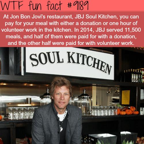 Jon Bon Jovi's Restaurant- WTF Fun Facts