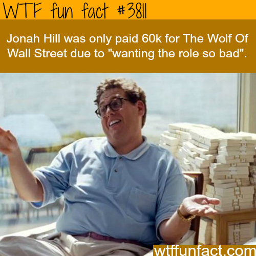 Jonah Hill in The Wolf Of Wall Street - WTF fun facts