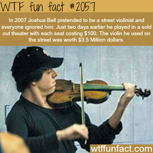Joshua Bell violin - WTF fun facts