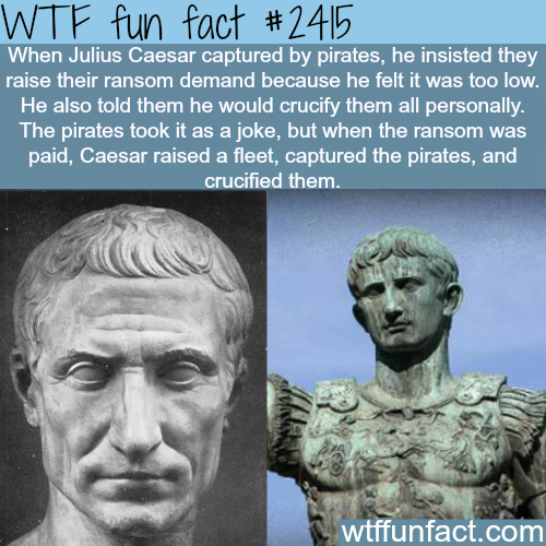 Julius Caesar Captured by pirates - WTF fun facts
