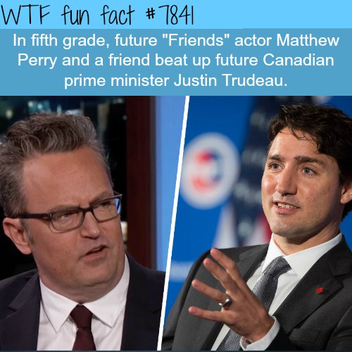 Justin Trudeau and Matthew Perry - WTF fun facts