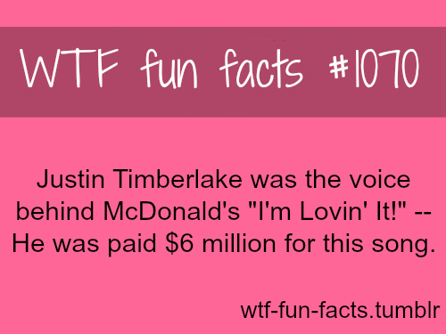 Justin Timberlake- I'm Lovin' It