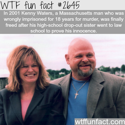 Kenny Waters murder conviction - WTF fun facts