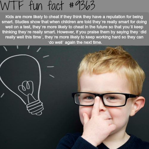 Kids who are more likely to cheat - WTF fun facts
