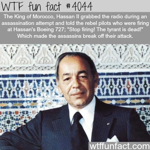 King Hassan ll assassination fail - WTF fun facts