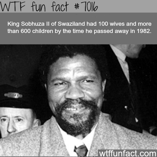 King Sobhuza ll of Swaziland - WTF fun facts