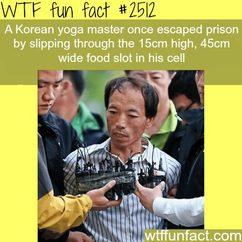 Korean Yoga Master Escapes Prison -WTF funfacts