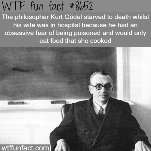 Kurt Godel - WTF fun facts