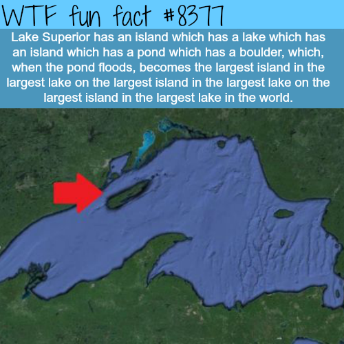 Lake Superior has an island within an island - WTF fun facts