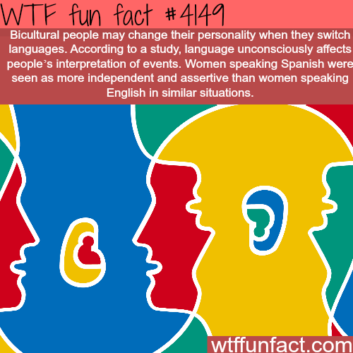 Languages can change your personality -  WTF fun facts