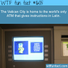 latin atm in the vatican city