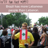 lebanese people in brazil wtf fun fact