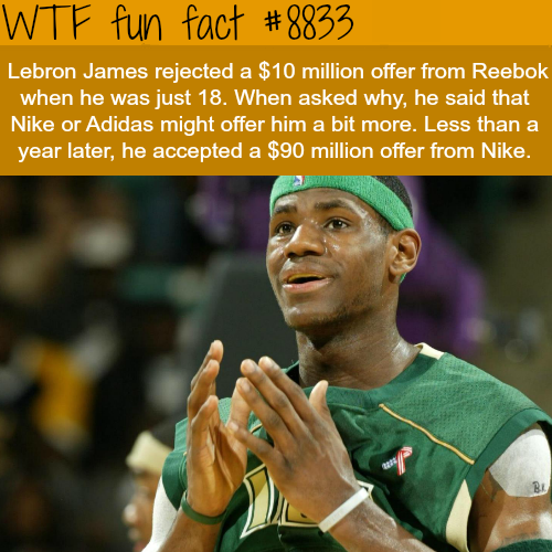 Lebron James at 18 - WTF fun facts